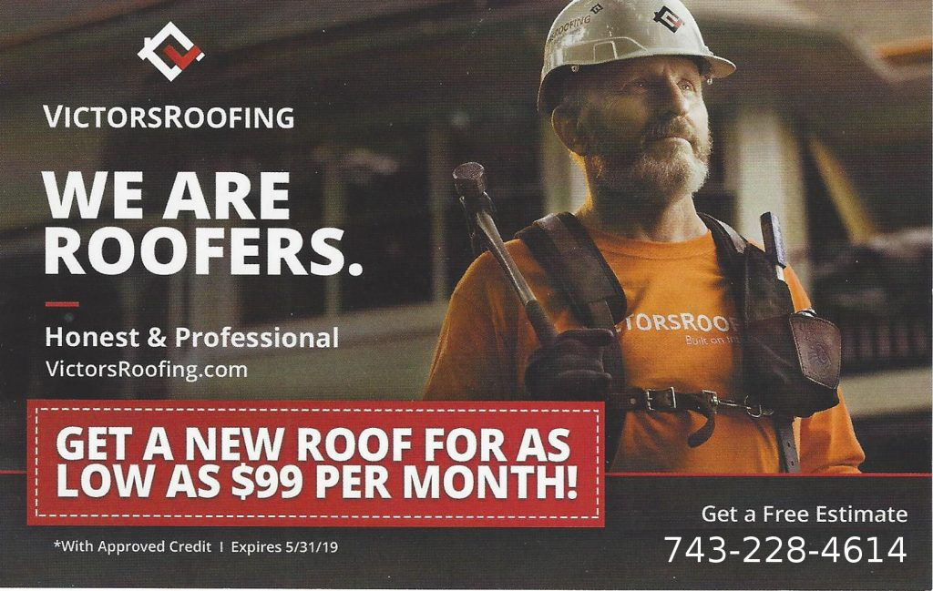 Victors-Roofing-99-dollars-a-month-offer