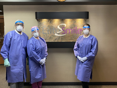 Dr Niazi and Staff in PPE