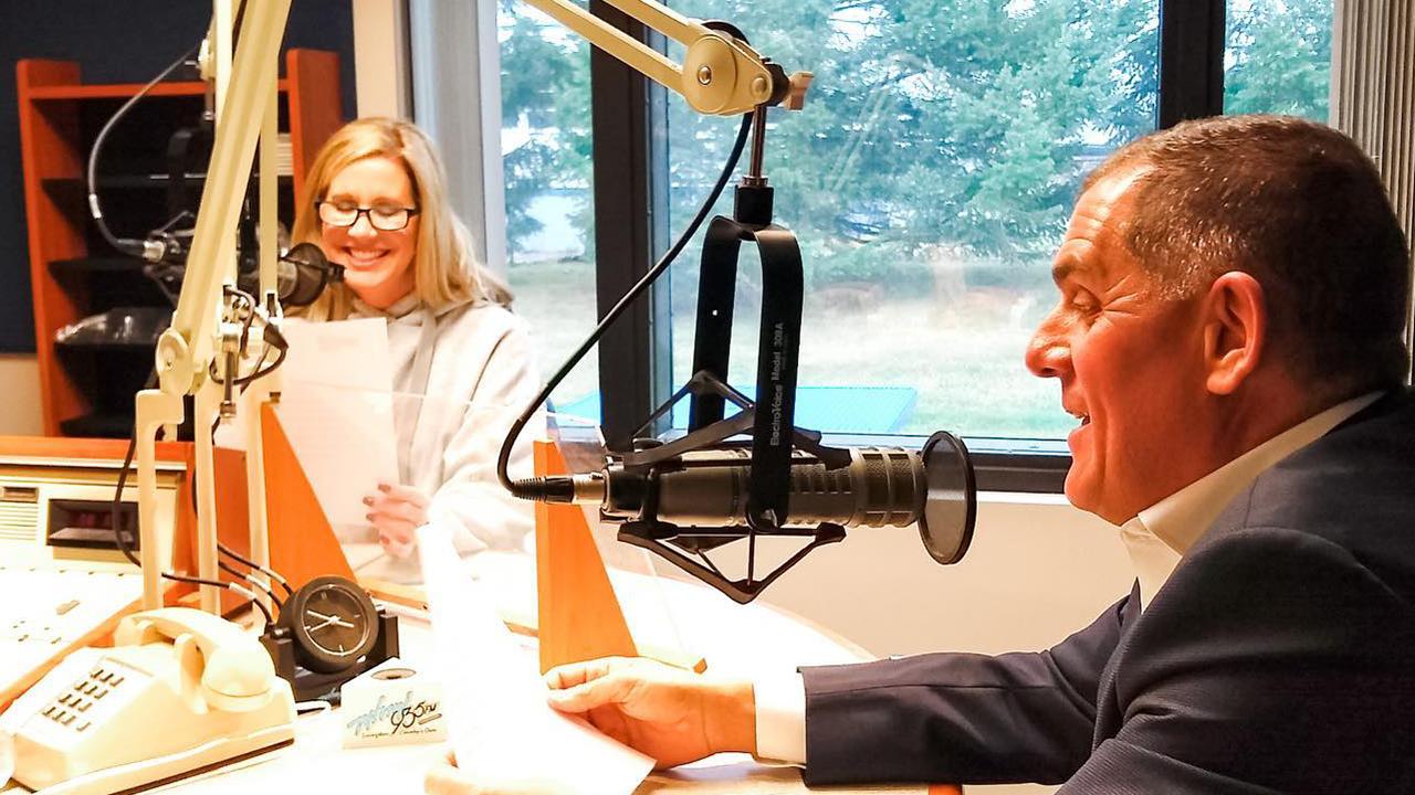 Kim Adams on the air with John Ceuter